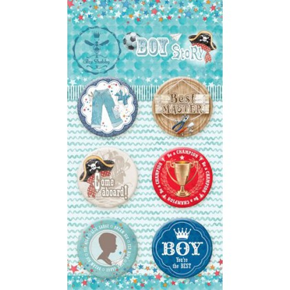 Buttons badge - BOY Story - 640250 - Bee Shabby