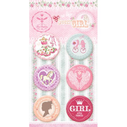 Buttons badge - Sweet GIRL - 630250 - Bee Shabby