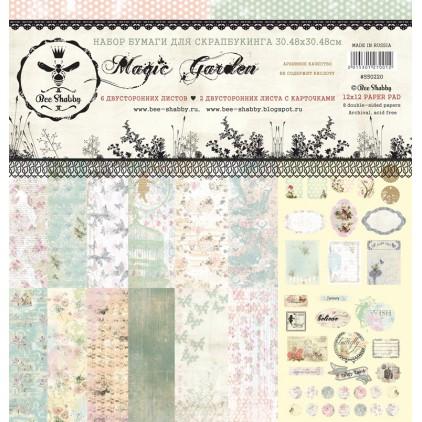 Zestaw papierów 30 x 30 cm - Magic Garden - 550220- Bee Shabby