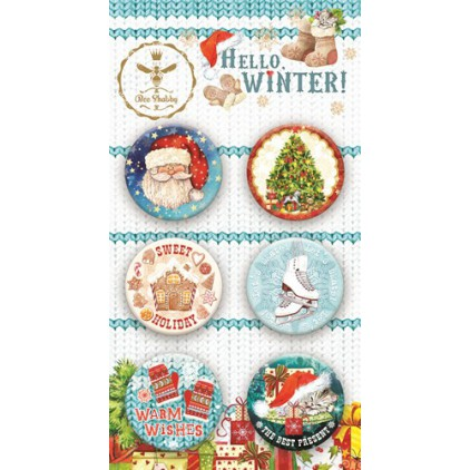 Buttons badge - Hello Winter - 400250 - Bee Shabby