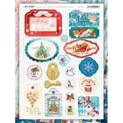 chipboards kształty z tektury - Hello Winter - 400240 - Bee Shabby