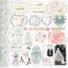 Zestaw papierów do tworzenia kartek i scrapbookingu - Bee Shabby - Just Married