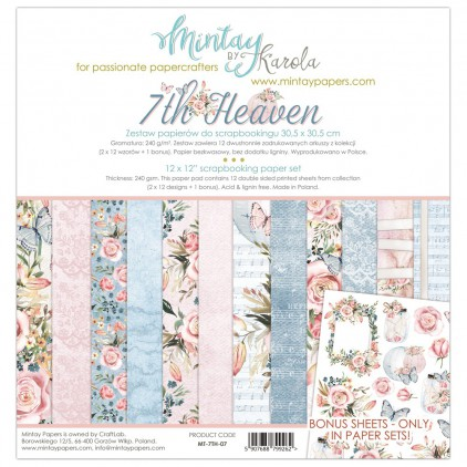 Scrapbooking paper set - Mintay Papers - 7th Heaven