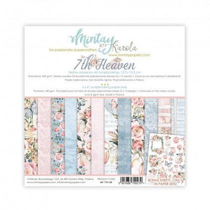 Scrapbooking paper pad - Mintay Papers -7th Heaven