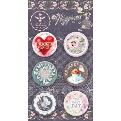 Buttons badge - Happiness - 730250 - Bee Shabby