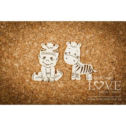 Laser LOVE - cardboard Boy with a zebra - Emma & Billy