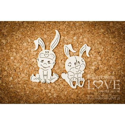Laser LOVE - cardboard Little boy with a bunny - Emma & Billy