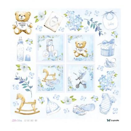 Papier do tworzenia kartek i scrapbookingu - ScrapAndMe - Little Cuties - elementy do samodzielnego wycięcia