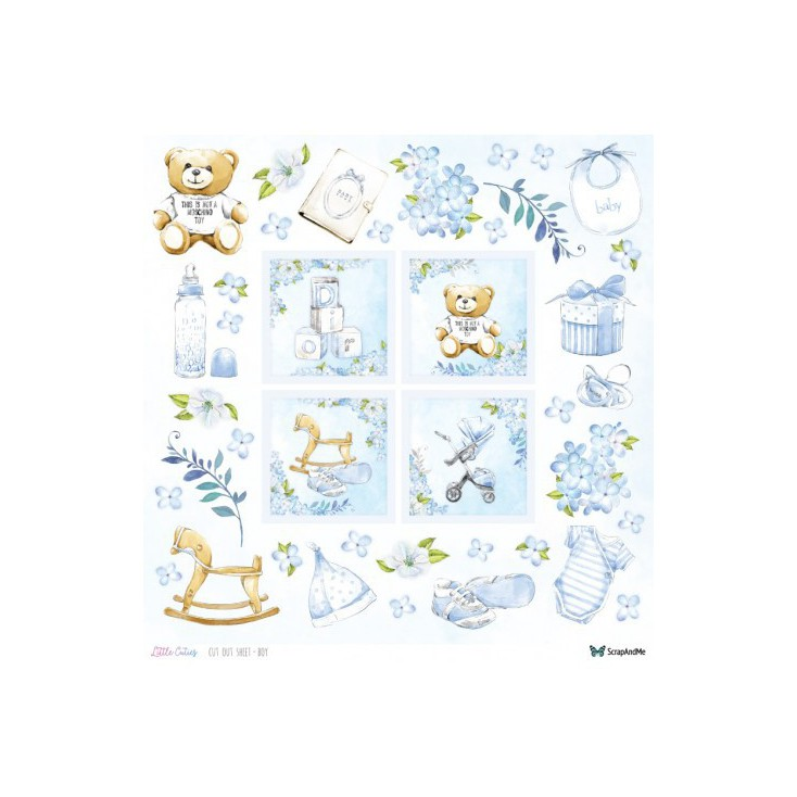 Set of scrapbooking papers - ScrapAndMe - Little Cuties - elements for self-cutting