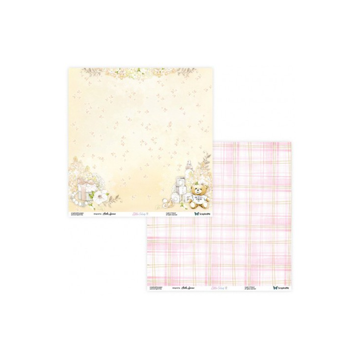 Set of scrapbooking papers - ScrapAndMe - Little Cuties - 11/12