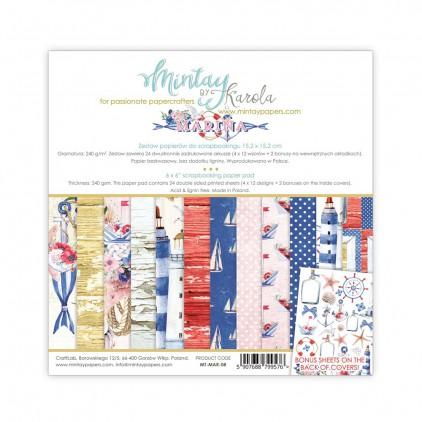 Mały bloczek papierów do scrapbookingu - Mintay Papers - Marina