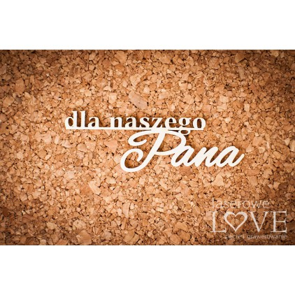 Laser LOVE - cardboard inscription dla naszego Pana Back to school 2 pcs