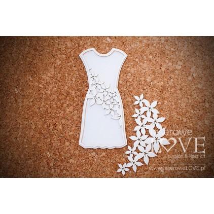 Laserowe LOVE - tekturka Sukienka mama Flower