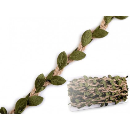 Jute band with leaves