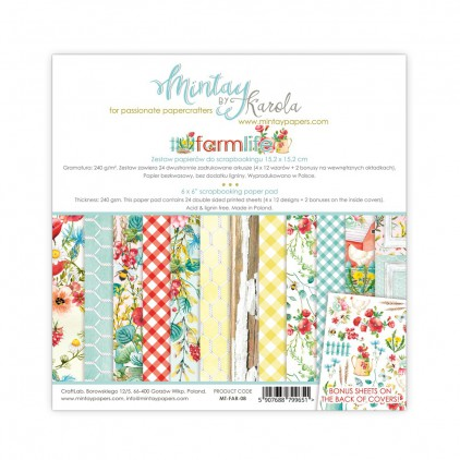 Scrapbooking paper pad - Mintay Papers - FarmLife