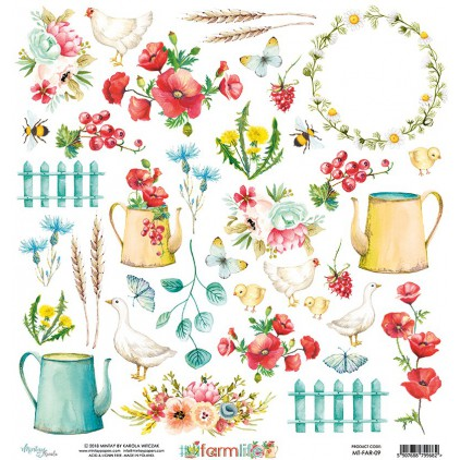 Scrapbooking paper - Mintay Papers - Farmlife