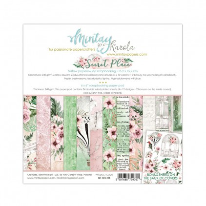 Scrapbooking paper pad - Mintay Papers - Secret Place