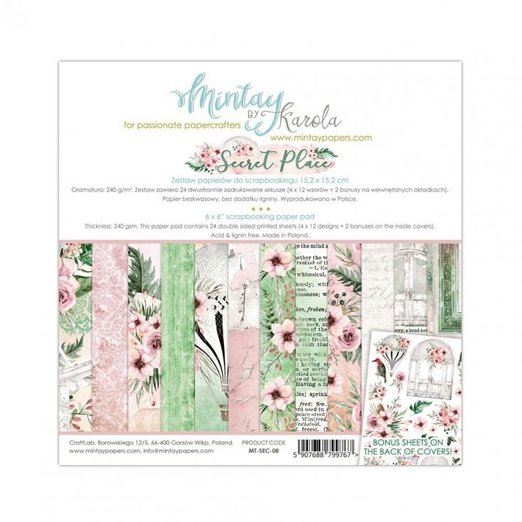 Scrapbooking paper pad - Mintay Papers - Secret Place