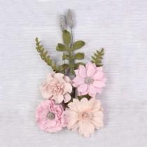 Papierowe kwiaty do rękodzieła - Little Birdie -Audria Blush - 4 kwiatków