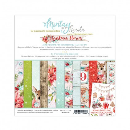 Scrapbooking paper pad - Mintay Papers - Christmas Stories