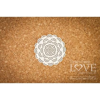 Laser LOVE - cardboard Dentelle round napkin - Kalina