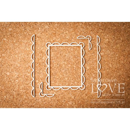 Laser LOVE - cardboard Rectangular frame oval edges