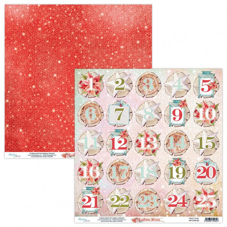 Scrapbooking paper - Mintay Papers - Christmas Stories 05