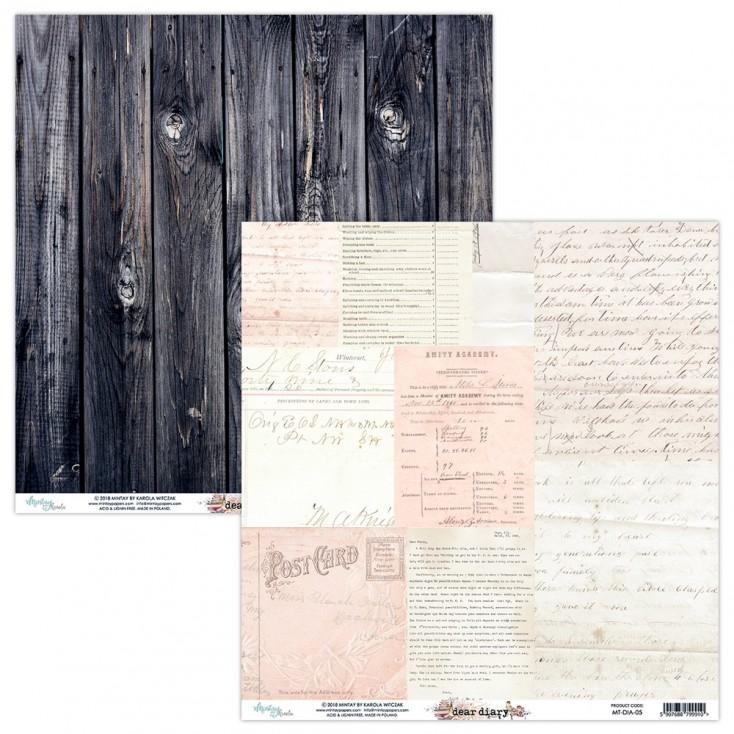Papier do scrapbookingu - Mintay Papers - Dear Diary 05