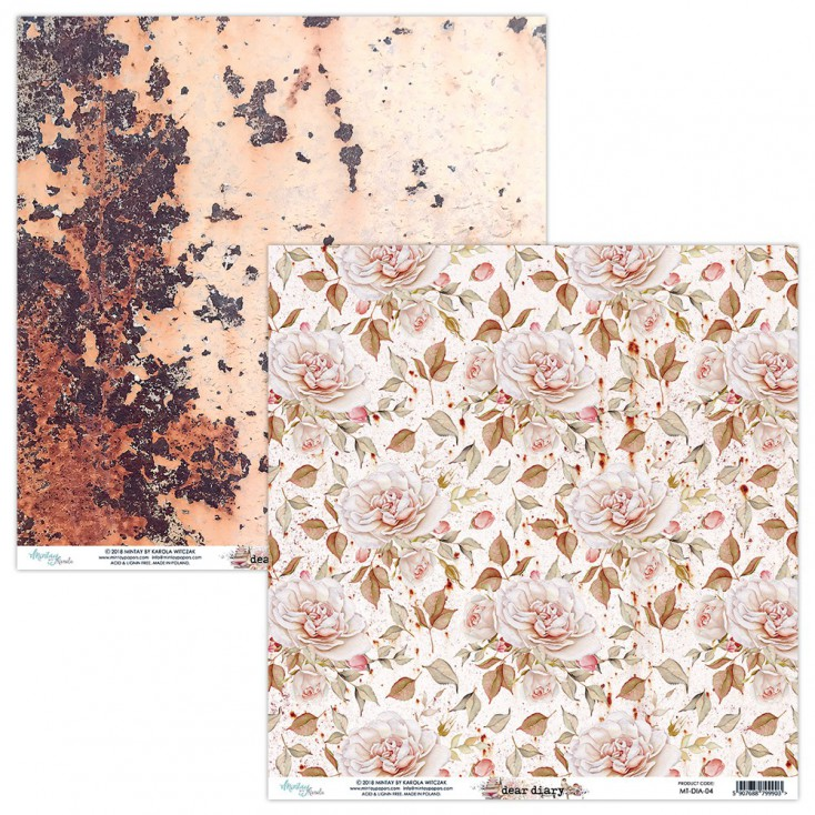 Scrapbooking paper - Mintay Papers - Dear Diary 04