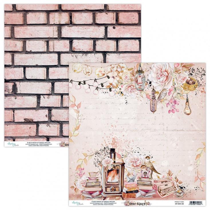 Papier do scrapbookingu - Mintay Papers - Dear Diary 03
