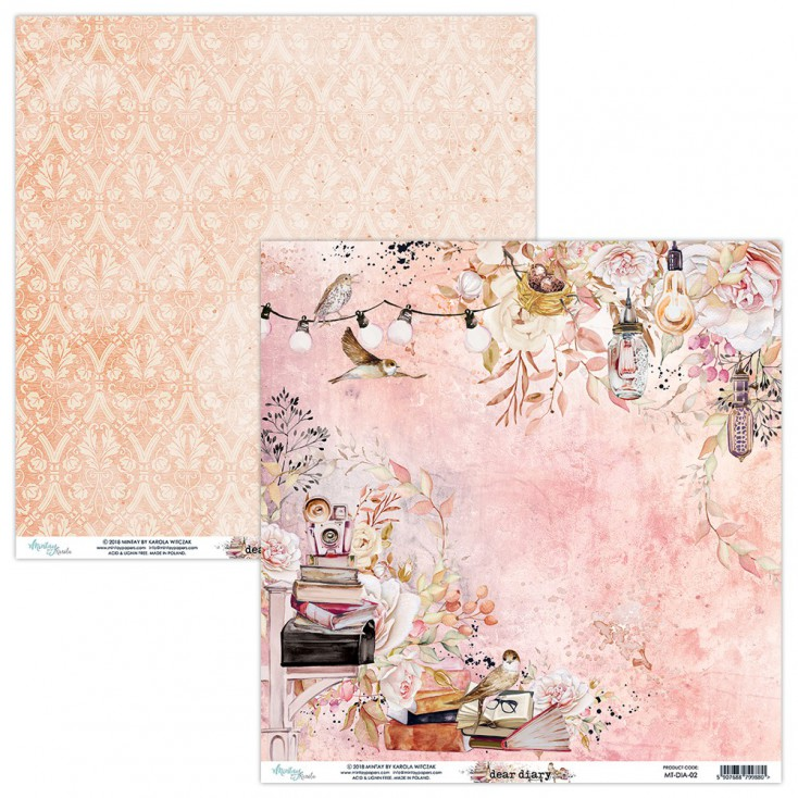Scrapbooking paper - Mintay Papers - Dear Diary 02