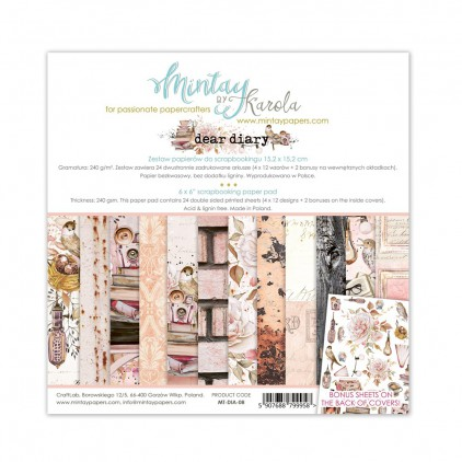 Scrapbooking paper pad - Mintay Papers - Dear Diary