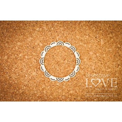 Laser LOVE - cardboard Frame round Kalina - Dentelle