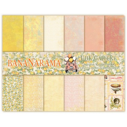 UHK Gallery - Bananarama - Set of scrapbooking papers