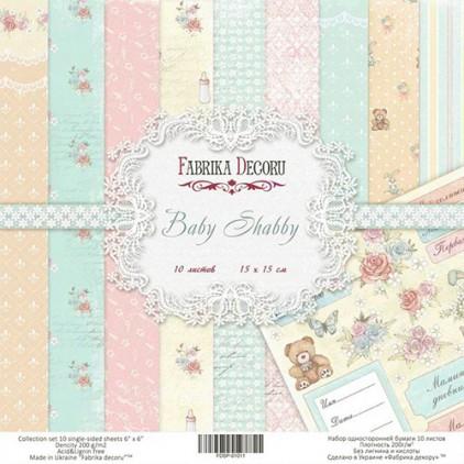 Mały bloczek papierów - Fabrika Decoru -Baby Shabby