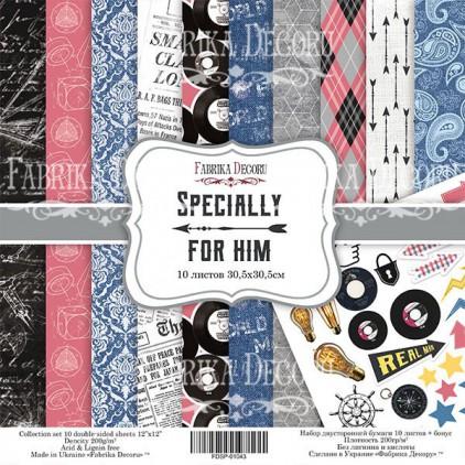 Zestaw papierów do tworzenia kartek i scrapbookingu 20x20- Fabrika Decoru - Specjalnie dla niego