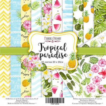 Zestaw papierów do tworzenia kartek i scrapbookingu 20x20 - Fabrika Decoru - Tropikalny Raj