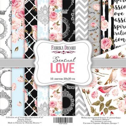 Zestaw papierów do tworzenia kartek i scrapbookingu 20x20- Fabrika Decoru - Sensual love