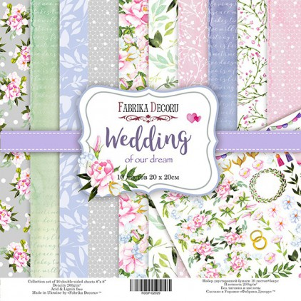 Set of scrapbooking papers 20x20- Fabrika Decoru - Wedding of our dream