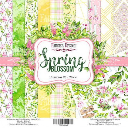 Set of scrapbooking papers 20x20- Fabrika Decoru - Spring blossom