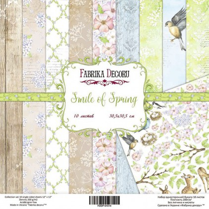 Set of scrapbooking papers 20x20- Fabrika Decoru - Smile of Spring