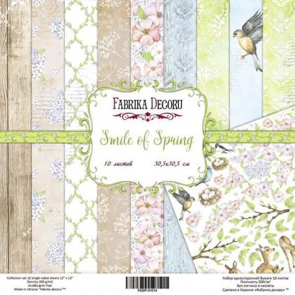 Zestaw papierów do tworzenia kartek i scrapbookingu  20x20- Fabrika Decoru - Uśmiech wiosny
