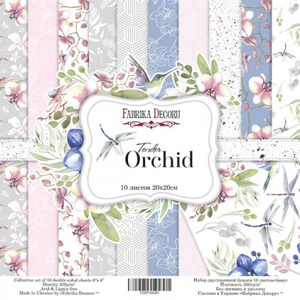 Set of scrapbooking papers 20x20- Fabrika Decoru - Tender orchid
