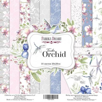 Zestaw papierów do tworzenia kartek i scrapbookingu 20x20 - Fabrika Decoru - Delikatna orchidea