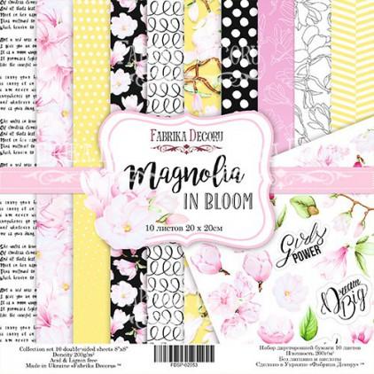 Zestaw papierów do tworzenia kartek i scrapbookingu 20x20- Fabrika Decoru - Magnolia w rozkwicie