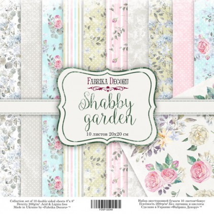Set of scrapbooking papers 20x20- Fabrika Decoru - Mysterious Garden