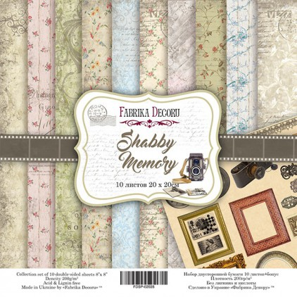 Set of scrapbooking papers  20x20- Fabrika Decoru - Shabby Memory