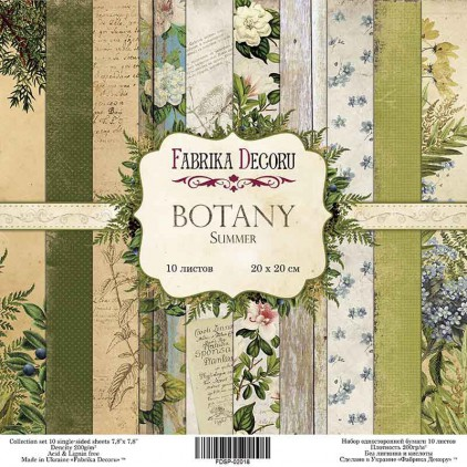 Set of scrapbooking papers 20x20 - Fabrika Decoru - Botany Summer