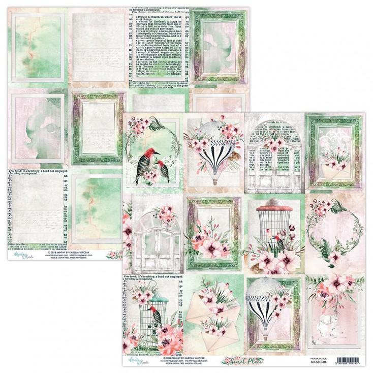 Papier do scrapbookingu - Mintay Papers - Secret Place 06