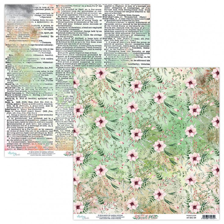 Papier do scrapbookingu - Mintay Papers - Secret Place 04